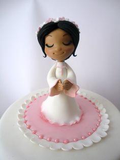 Fondant Communion Girl, prima comunione pasta zucchero