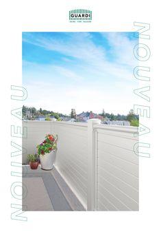 Passend zum Gartenzaun gibt es unseren NOUVEAU auch als Balkongeländer! In blickdichter Ausführung eignet sich NOUVEAU optimal als Sichtschutz. Durch die schmalen Querlatten wirkt er allerdings immer noch leicht und modern. Outdoor Sofa, Outdoor Furniture, Outdoor Decor, Aluminium, Modern, Home Decor, Split Rail Fence, Fence Ideas, Privacy Screens