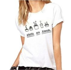 fa76f71b6a9 Plants Are Friends  tshirt  womensfashion  style fun casual fashion great  everyday style summer