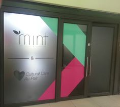 Tinted and color vinyl on glass  #capetown #icut #vinyl #signage