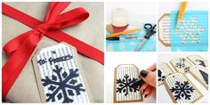 Use old book pages, handmade stencils, and Sharpie to make your own holiday gift tags. Check out a full tutorial here.
