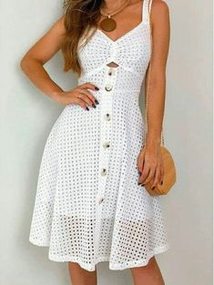 Interesting 100 Hot Outfits To Try This Year Hot Outfits, Dress Outfits, Casual Dresses, Fashion Dresses, Short Sleeve Dresses, Summer Dresses, Skater Outfits, Disney Outfits, Dress Skirt