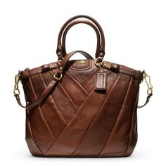 Coach :: Madison Diagonal Pleated Exotic Lindsey Satchel