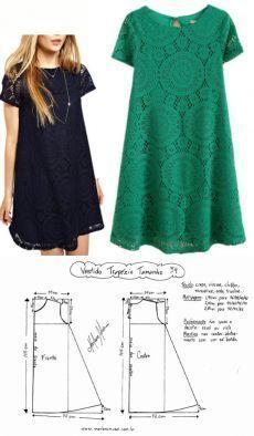 Sewing Dress, Dress Sewing Patterns, Diy Dress, Sewing Clothes, Clothing Patterns, Diy Clothes, Clothing Ideas, Teens Clothes, Pattern Dress