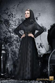 Almotahajiba: Abaya by Almotahajiba. Winter Collection 2013.