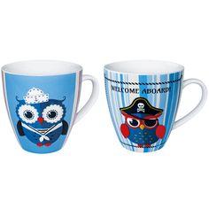 Caffè, latte o tè: il tuo break preferito sarà ancora più piacevole gustato con questa divertente tazza in porcellana. Lavabile in lavastoviglie.