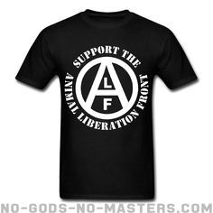 5182d33b407 T-shirt ♂ Support the Animal Liberation Front (ALF) - Animal liberation  Vegan