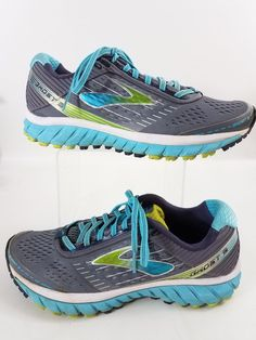 b4632886be0 Brooks Ghost 9 Womens Shoes Size 9 Running Sneakers Aqua Grey  Brooks   LowTop