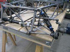 Lotus Sports Car, Kart Cross, Homemade Go Kart, Lotus 7, Tube Chassis, Diy Go Kart, Go Kart Plans, Rail Car, Space Frame