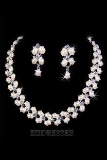 Elegant Alloy With Pearl Women's Jewelry Sets izipj629