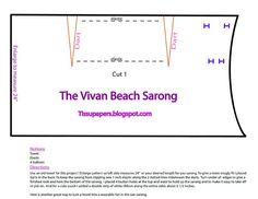 Beach Sarong Made From an Old Towel  - DIY With Pattern