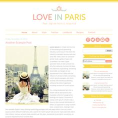Favorite 2 // Premade Blogger Template  Love in Paris  Blogger by ShinyMagic, $30.00