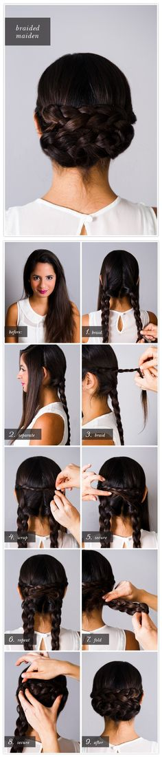 Pretty Simple Updos -Braided Chignon Hairstyle Tutorial