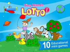"""TinyHands-TinyHands Lotto"""" is an educational game for children of age 1.5 and up.  The game consists of 10 boards, each focused on a different theme from the child's world such as shapes, colors, clothes, animals and vehicles.   The game is designed to enhance the following:  - Hand-eye coordination  - Concentration  - Categorization  - Visual perception  - Vocabulary"""