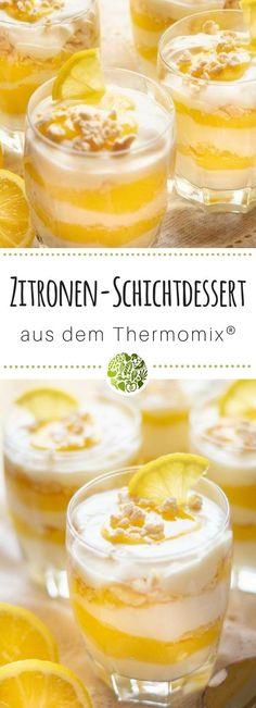 Mache unser Zitronen-Schichtdessert aus dem Thermomix®️ noch heute nach! Das Rezept ist für TM5®️ und TM31 geeignet. Mehr Rezepte gibt es im will-mixen.de Blog! #willmixen #thermomix
