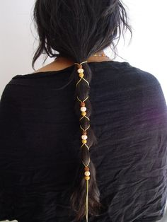 Leather hair-tie ponytail holder