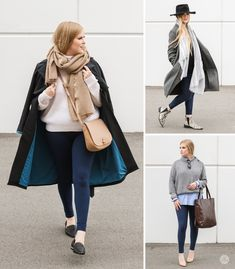 3 looks to wear with Midnight navy SweetLegs leggings. Pair with a blue coat, a neutral scarf and bag. Add layers and mixed patterns by wearing with an animal print boot. Roll up the bottom of a sweater and layer over a button up blouse with nude pumps. How To Wear Leggings, Navy Leggings, Sweet Fashion, Blue Coats, Nude Pumps, Sweet Style, Pattern Mixing, Style Guides, Duster Coat