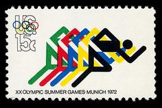 This stamp series, inspired by the 1972 Summer Games in Munich, honors the Olympic spirit.