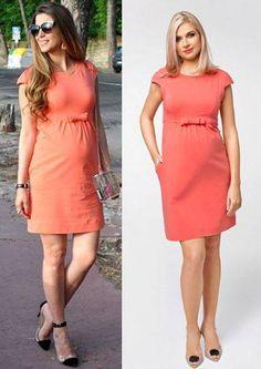 Wearing Sugat Apricot Dress