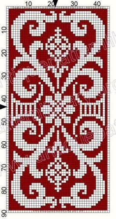 Crochet Diagram, Crochet Chart, Filet Crochet, Crochet Motif, Just Cross Stitch, Cross Stitch Borders, Cross Stitching, Cross Stitch Patterns, Knitting Charts