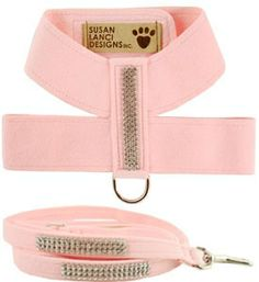 Trendy Designer Dog Harness - Made in USA - Cute Matching Leash Available