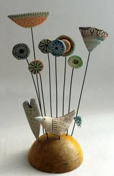 Bird & Flower Patch - Shirley Vauvelle