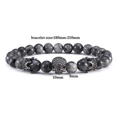 Persevering Fashion Black Natural Stone Beads Anchor Bracelet Luxury Zirconia Paved Men Braclets For Women Mens Hand Jewelry Pulsera Strand Bracelets Bracelets & Bangles