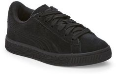 Puma Kids Boys) Black Classic Badge Jr. Low Top Sneakers