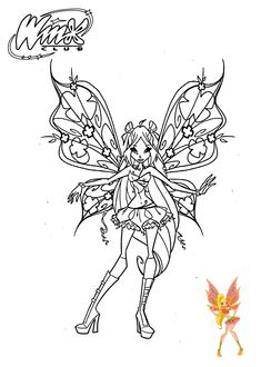 Stella Winx Club Coloring Pages For Girls Printable Free 22