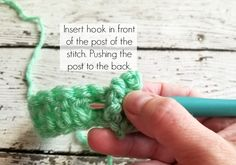 How to Crochet Front Post Double Crochet & Back Post Double Crochet Diy Crochet, Crochet Hooks, Front Post Double Crochet, Crochet Projects, Swatch, Stitches, Crochet Necklace, Applique, Happiness