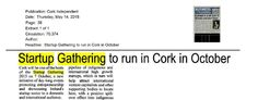 Cork: Cork Independent- Cork chosen as one of the 5 cities to host Startup Gathering