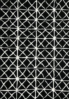 Palette Black/White Area Rug
