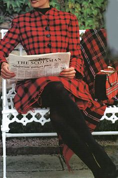 Isaac Mizrahi's Royal Stewart Tartan Dress and Jacket.  Vogue
