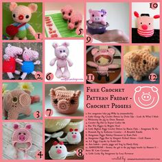 Little Pig...Little Pig... Let me in! Free Crochet Pattern Round Up!