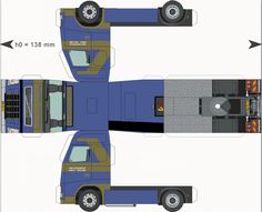 Free Download Paper Model Trucks | Trailer-Faassen