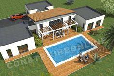 plan maison moderne dessus PACIFIC