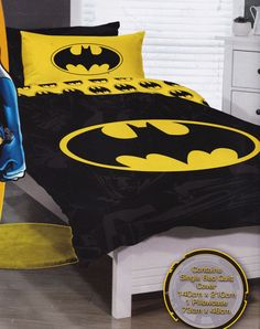 Batman Bedroom Set Queen - Each day the bedroom is used, also it serves as a location for relaxation, for other as well as re Batman Quilt, Batman Bedroom, Batman Poster, Boy Quilts, Quilt Cover Sets, Kids Bedroom, Bedroom Ideas, Queen Duvet, Duvet Sets