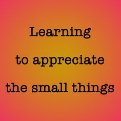 Blog Post: Learning To Appreciate the Small Things  What breaking my pelvis in a car accident taught me...