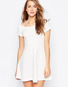 Buy it now. AX Paris Off Shoulder Skater Dress - Cream. Dress by AX Paris, Smooth, stretch fabric, Bardot neckline, Short sleeves, Skater shape, Regular fit - true to size, Hand wash, 95% Polyester, 5% Elastane, Our model wears a UK 8/EU 36/US 4 and is 174cm/5'8.5 tall. , vestidoinformal, casual, camiseta, playeros, informales, túnica, estilocamiseta, camisola, vestidodealgodón, vestidosdealgodón, verano, informal, playa, playero, capa, capas, vestidobabydoll, camisole, túnica, shift, ple...