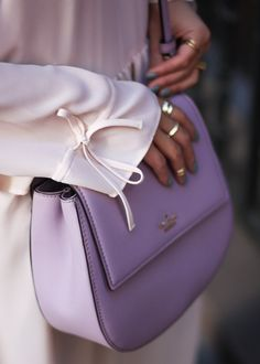 What to Wear on a Romantic Date During the Day - Layers of Chic Kate Spade Handbags, Kate Spade Purse, Luxury Handbags, Purses And Handbags, Cheap Handbags, Neon Light, Spring Bags, Lavender Bags, Kate Spade Cameron Street