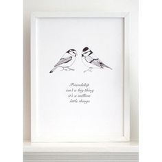 Given that Pulborough Brooks is on our we're going to collect beautiful bird pictures for the hotel :-) Karin Akesson Friendship Bird Print - Black