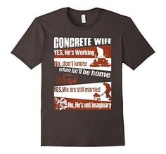 Concrete wife funny t shirt