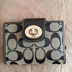 Coach wallet Black and grey Coach wallet in great condition Coach Bags Wallets