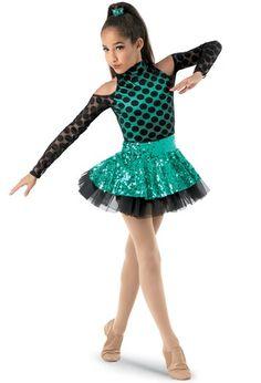 Weissman® | Polka-Dot Mesh Long-Sleeve Dress