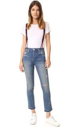 Amo jeans with braces