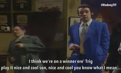 Only fools and horses moments:falling through the bar. British Tv Comedies, British Comedy, Fool Quotes, Tv Quotes, Comedy Tv, Comedy Show, New Years Eve 2018, Best Sitcoms Ever, Only Fools And Horses
