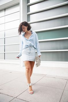 Karla's Closet in American Apparel Denim Skirt SIMILAR STYLES...