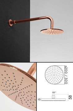 UK suppliers of copper bathroom taps and fixed copper plated fixed shower heads in the latest European styling. Exclusive and unique design choice. Copper Shower Head, Fixed Shower Head, Copper Bathroom, Bathroom Taps, Modern Bathroom, Light Bathroom, Copper Taps, Architecture 3d, Copper Interior