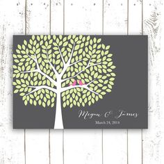 Guest Book Tree, Spring Wedding Guest Book for 250 Guests, Unique and Interactive Guest Book in Grey