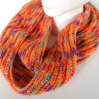 Buttonsbuttons everything with buttons by AllAboutTheButtons Orange Infinity Scarf